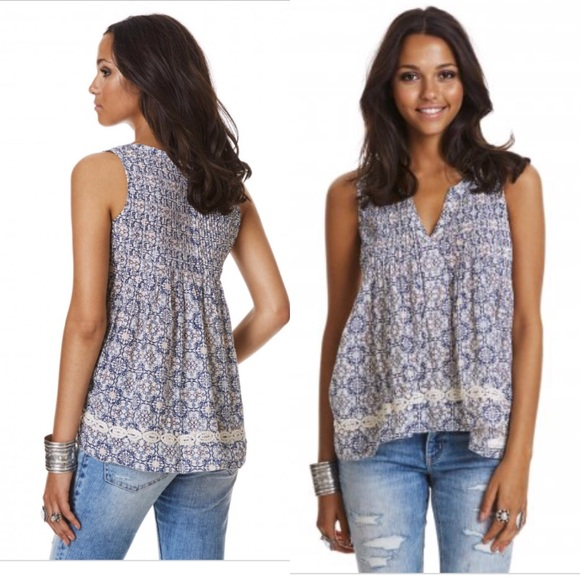 d61b0b87 Anthropologie Tops | Anthro Odd Molly Fintastic Blouse Tank Top 2 M ...